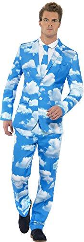 Smiffys, Herren Sky High Anzug, Jackett, Hose und Krawatte, Größe: M, 40086