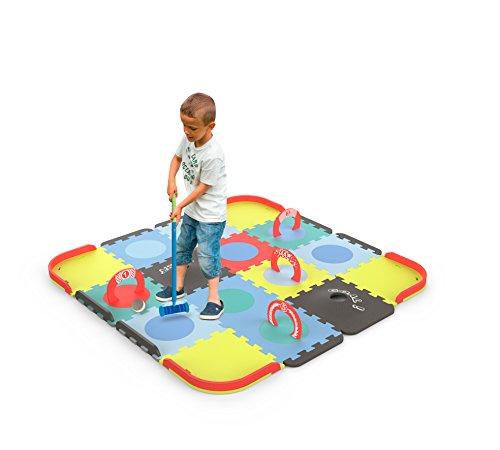 Tatamiz - Cricket Set teppich - EVA Schaum Puzzle - 39 Platten - 2 Gummigeschosse - Ab 3 Jahren - D'arpèje - TTMZ106