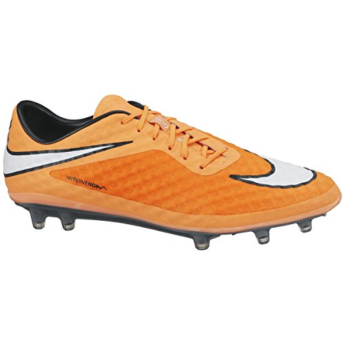 Nike  HYPERVENOM Phantom FG, Chaussures de Football Compétition homme - Karminrot/Weiß/Orange
