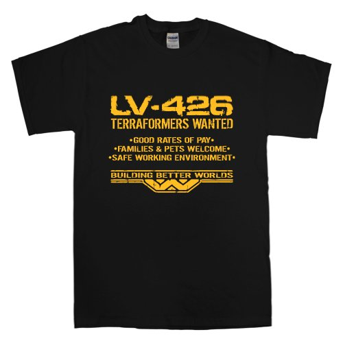 Hombre Inspired By Aliens - Lv-426 Terraformers Wanted - Black - X-Large