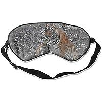 Schlafmaske, natürliche Seide, Augenbinde, super glatte Augenmaske (Tier-Tigerkatzen) preisvergleich bei billige-tabletten.eu