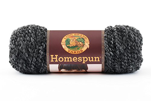 Lion Brand Yarn Company 1 Knäuel Garn Homespun, Edwardian, Schwarz/Grau -
