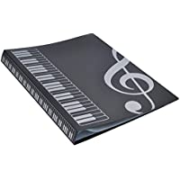 Lovelysunshiny 80 Feuilles A4 Dossiers de Livres de Musique Type à Insertion Piano Fournitures de Musique Stockage de fichiers