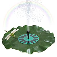 ‏‪Solar-power Lotus Leaf Fountain Floating Brushless Decoration Pump Kit with Monocrystalline Solar Panel for Bird Bath Garden Pond Energy-saving Environmental-friendly Universal‬‏