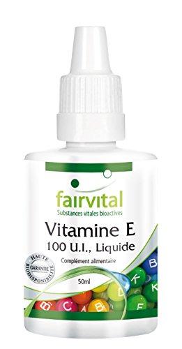 Vitamine E-Huile 100 U.I., Liquide - 50 ml - Cette vitamine E liquide est appropriée pour le soin d'une peau sèche, sujette aux rougeurs et qui démange.