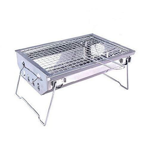 Vlook Tragbarer Holzkohle-BBQ-Grill, Edelstahl-Kebab-Grill, Faltbarer Kleiner Leichter Ofen, Korrosionsbeständigkeit, Hochtemperaturbeständigkeit -