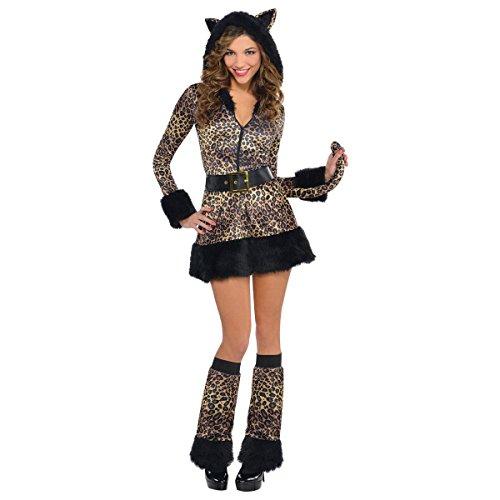 AMSCAN Pretty Kitty Kostüm Katze, Größe L, mit Zubehör