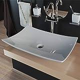Design Keramik Waschbecken Waschtisch Waschschale Aaufsatzwaschbecken eckig weiß KBW233