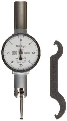 Mitutoyo Taschen-Typ-Zifferblatt-Testanzeige, Grund-Set, horizontal, 2,5 cm, Durchmesser des Schaftes, 0-0.04