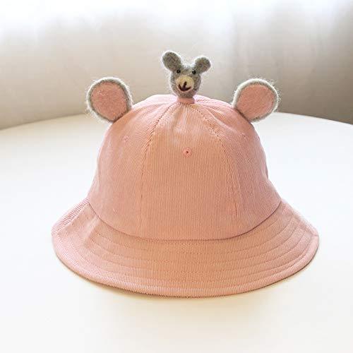 ChildHat 2018 Hut für Kinder,Baby Mütze weiche Schwester kleine gelbe Hut frisch Baby Hut Ohren Eltern-Kind-Hut DIY Cord Kinder, Koala-Rosa, samt Kleiner S-Code Kinder 0-2 Jahre alt ()