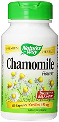 Nature's Way, Chamomile Flowers, 350 mg, 100 Capsules from Nature's Way
