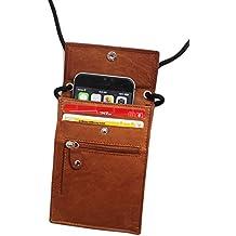 Safekeepers - Bolso Portadocumentos de Viaje Festival . 100% Piel con RFID SKIMM technologia . Para Iphone 6 y el Pasaporte