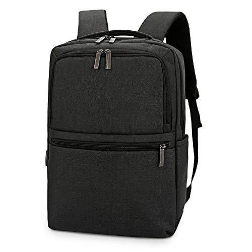 Shuzhen,Laptop-Rucksack wasserdicht und USB-Port für Männer und Frauen Business Travel Capacity College(color:SCHWARZ,size:VERTIKALE)