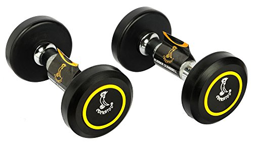 Cockatoo Rubber Coated Professional Round dumbbells (Pack of Two) ; Round Dumbbells