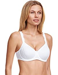 Susa 8013-3 Women's London White Padded Underwired Full Coverage Minimizer Bra
