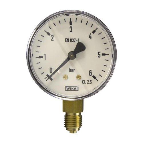 Wika Manometer (Manometer, NG63, 0-6 bar - WIKA 111.10 - 9052836)