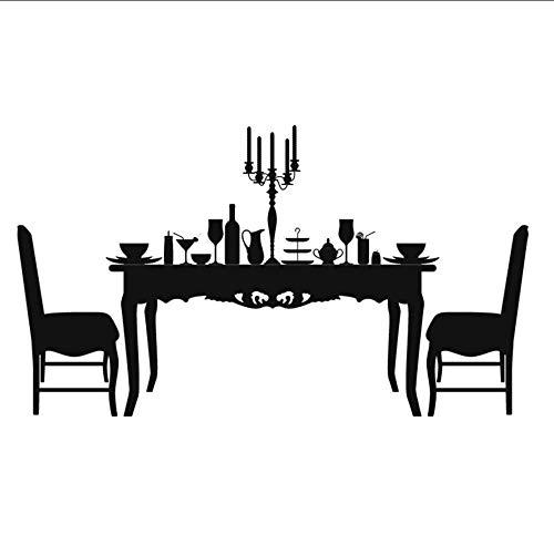 Preisvergleich Produktbild XOOYYY Schöne Wohnkultur Romantische Candlelight Dinner Wandaufkleber Abnehmbare Diy Wasserdichte Vinyl Kunst Wandtattoo 29X51 Cm