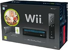 Nintendo Wii - Console Wii Fit Plus Pack, Nera + Telecomando Wii Plus + Wii Fit Plus + Wii Balance Board [Bundle]