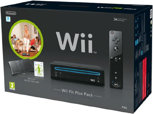 Nintendo Wii - Console Wii Fit Plus Pack, Nera + Telecomando Wii Plus + Wii Fit Plus + Wii Balance Board [Bundle]