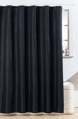 polyester diamante shower curtainblack glitter bathroom accessories amazon co uk