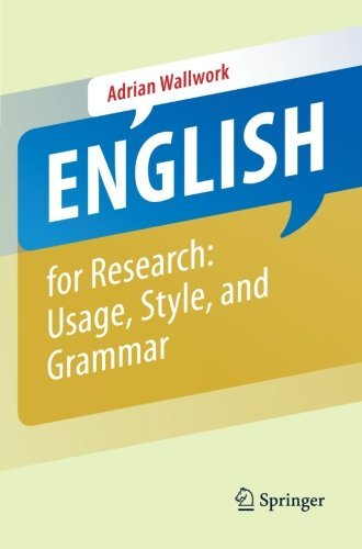 Portada del libro English for Research: Usage, Style, and Grammar by Adrian Wallwork (2012-11-07)