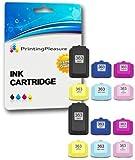Printing Pleasure 12 XL Druckerpatronen für HP Photosmart C5100 C5140 C5150 C5160 C5170 C5173 C5175 C5180 C5185 C5190 C5194 C6150 C6160 C6170 C6175 C6180 C6185 C6190 C6200 C6240 C6250 C6270 C6280 C6283 C6284 C6285 C6288 C7150 C7170 C7180 C7183 C7185 C7190 C7200 C7250 C7270 C7275 C7280 C8150 C8170 C8180 C8183 D6100 D6160 D7100 D7145 D7155 D7160 D7163 D7168 D7180 D7260 D7280 D7300 D7345 D7355 D7360 D7460 D8200 D8230 D8250 P3210 3100 3108 3110 3200 3210 3310 8200 8230 8250 | kompatibel zu HP 363