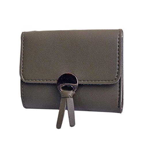 Portafoglio Donna, Tpulling Donna uso quotidiano delle frizioni borsa portafogli borsa della borsa della frizione di qualità (Red) Green