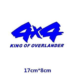 HANO 4x4 Off-Road King of Overlander SUV 4WD CarCreative Abziehbilder Auto Tuning Styling Wasserdicht 17 * 8cm & amp; 25 * 12cm D11: 17x8