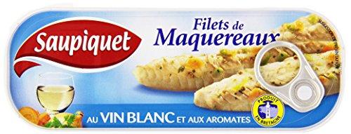 Saupiquet de Maquereaux au Vin Blanc et aux Aromates la Boîte 176g - Lot de 5