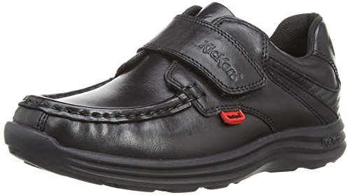 Kickers Boy's Reasan Strap Loafers - Black (Black), 2 UK (34 EU)