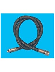 New 26 Inch Low Pressure Braided Scuba Regulator Hose (Black-MaxFlex) by Innovative