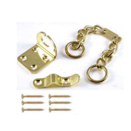 Hohe Qualität Basta Heavy Duty Solide Sicherheit Tür Kette E Messing Tür Lock Guard Home + Schrauben