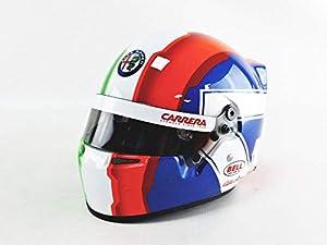 Mini Helmet- Coche en Miniatura de colección, 4100012, Negro, Rojo, Blanco y Verde