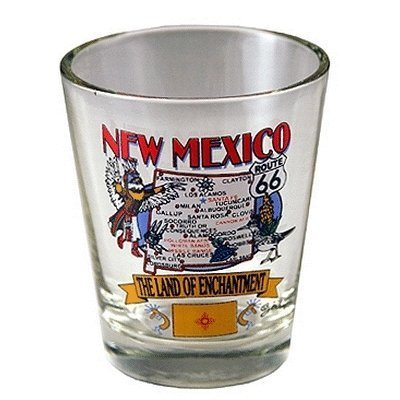 Bulk Buys New Mexico Shot Glass 2.25H X 2 in. W State Map - Case of 96 by bulk buys