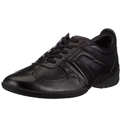 Clarks Flux Spring, Herren Sneakers, Schwarz (BLACK LEATHER), 38/39 EU