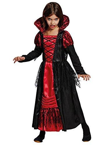 Kind Vampir Prinzessin Kostüm (Vampir-Prinzessin Halloween-Kinderkostüm schwarz-rot)