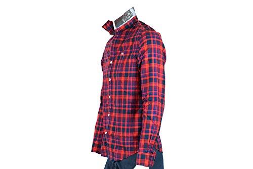 Napapijri Chemises casual - Gederit - unisex Rosso-blu
