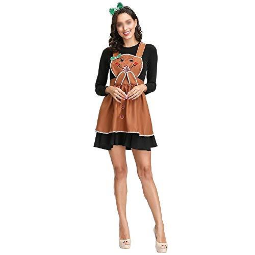 ZHANGCHANG Deutsch Bier Mädchen Mädchenkostüm Halloween-Rollenspiel im Einklang Pfannkuchen Kuchen Division (Color : Brown, Size : (Deutsch Bier Mädchen Kostüm)