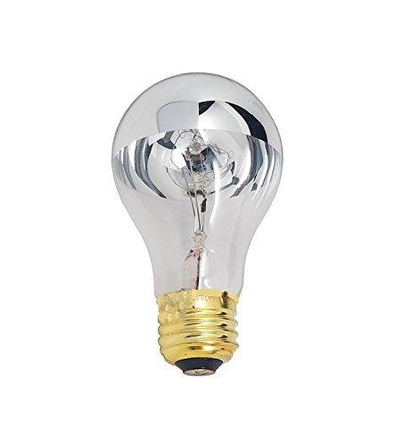 60Watt A19Hälfte chrom Leuchtmittel für Esszimmer Leuchten und Anhänger, moderne Beschläge, klassische zeigt, Badezimmer Eitelkeit. Glühlampe E26Medium Base Hälfte Spiegel-4Stück von goodbulb -