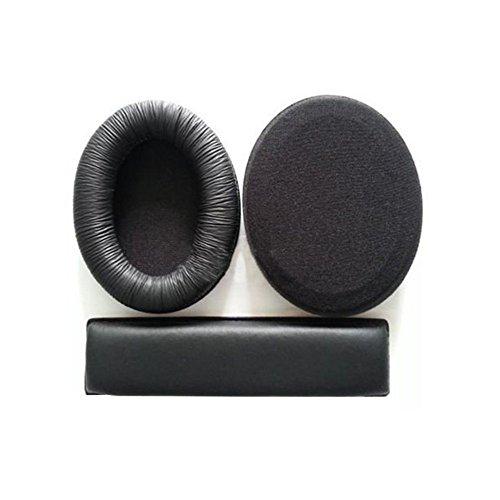 Cuscinetti auricolari di ricambio per cuffie Sennheiser HD201,HD201S, HD180,con fascia