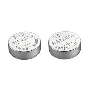 2 x Renata 301 Uhrenbatterie, Swiss Made, Silberoxid, 1,5 V (SR43SW)