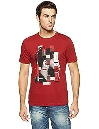 LP Jeans By Louis Philippe Men's Solid Slim Fit T-Shirt - B07DSSMQ3X