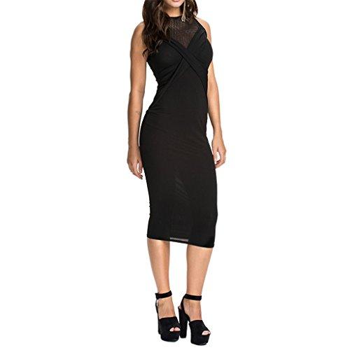 Waooh - Ausschnitt Kleid Mit Transparenten Hime Schwarz