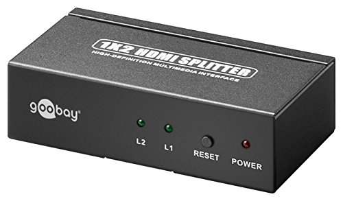 Preisvergleich Produktbild Goobay 90658 Ultra HDMI Splitter 1x 2 verteilt Signal-auf-2 Bildschirm schwarz