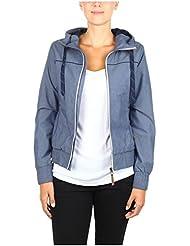 Eight2Nine Damen Übergangsjacke mit Kapuze | Sportliche Jacke mit Gummibund aus Baumwolle