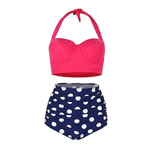 Damen Crossover Netz Gepolstert Bikini Set Zweiteilige Strandkleidung Bandeau Strandmode Blumen Druck Bikinihose