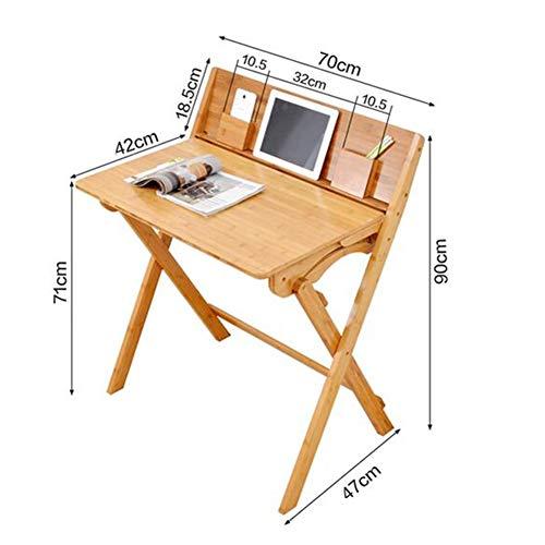 Tische Tischhocker Set Klapptische Bambus Kinder tragbar Schreibtischstühle Schreibtisch Schreibtisch Komplett montiert CJC (Farbe : 1 Folding Table) - Bambus Set Klapptisch