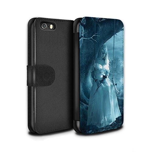 Officiel Elena Dudina Coque/Etui/Housse Cuir PU Case/Cover pour Apple iPhone SE / Relation amicale Design / Art Amour Collection Luz Sombra