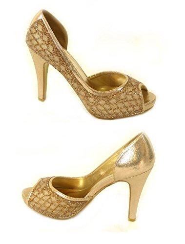 SKO'S , Sandales pour femme Gold (567-76)
