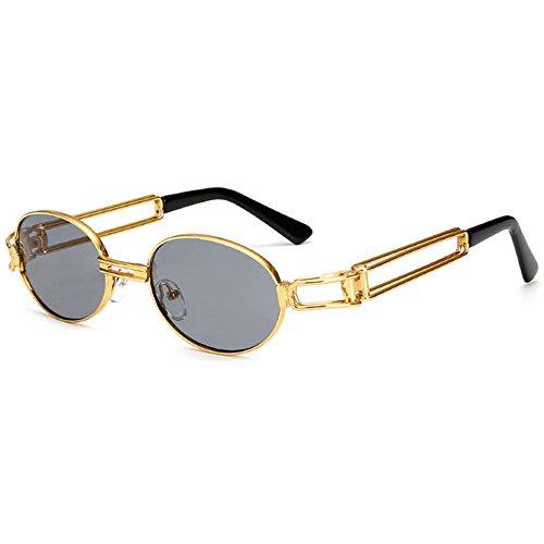 Deylay Hip Hop Retro Runde Sonnenbrille Damen Herren Vintage Steampunk Sonnenbrille UV400 Farbe (Hop Hip Sonnenbrille)